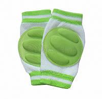 Наколінники для дітей і малюків Зелені смужки  Оптом