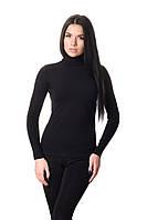 Женская водолазка вискоза чёрного цвета.