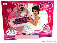 Трюмо для девочек настольное, музыкальное,со светом, в коробке (ОПТОМ) 78008 А