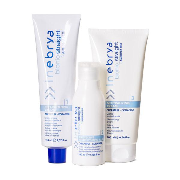 Inebrya Bionic Straight Ammonia Free Kit  безаммиачный комплект для химического выпрямления волос