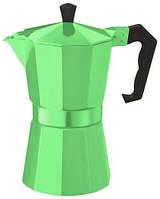 Гейзерная кофеварка 450мл Con Brio CB-6009GR