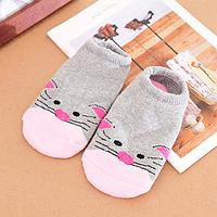 Носки следы противоскользящие махровые Natural Baby Оптом