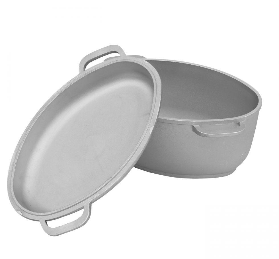 Гусятница с крышкой-сковородой 2,5л. алюминий БИОЛ Г301