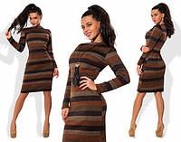 Шерстяное женское платье с начесом