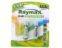Батарейки RAYMAX HR03 1.2 V 1100 mah Ni-MH AAA blister card/2pcs (2шт.)