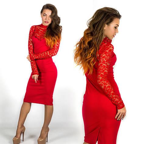 Платье 15593 (Красный), фото 2