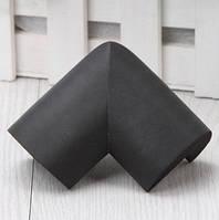 Мягкая защита на углы - большая. Черный  Оптом