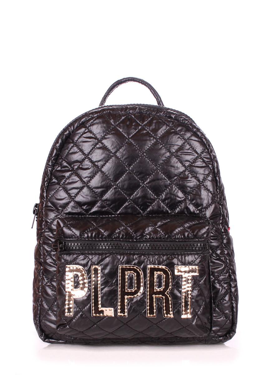 "Рюкзак женский POOLPARTY Mini черный ""лого"""