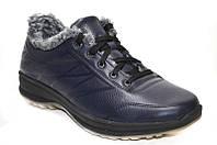 Зимние мужские спортивные ботинки на меху из натуральной кожи.
