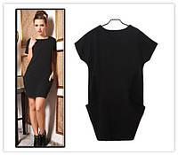 Платье туника Free Style M, 44, Черный