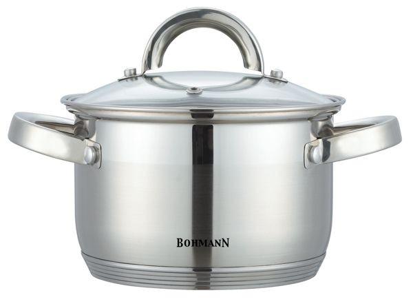Кастрюля Bohmann BH 1416 2л нержавеющая сталь