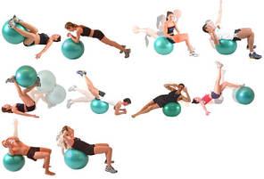 Мяч фитнес 55 см, глянец, KingLion, розовый, фото 3