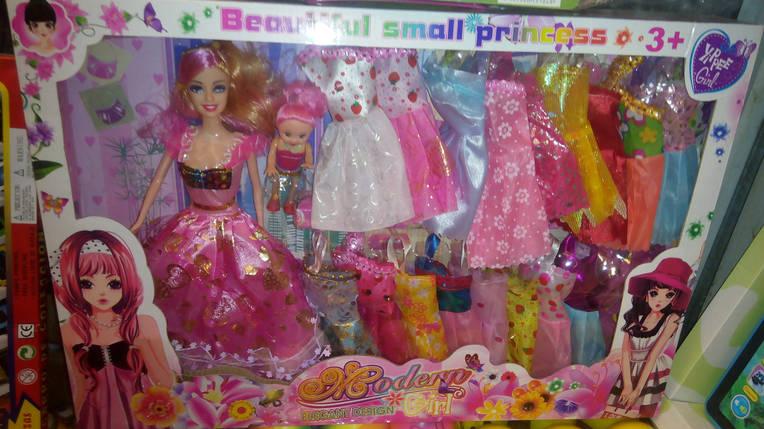 Кукла  с набором платьев, фото 2