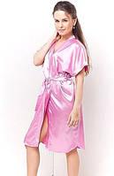 Халатик женский удлиненный с пояском на запах, женский атласный халатик, размеры и цвет разные. Розница, опт.