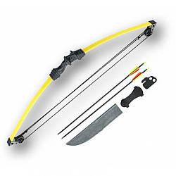 Лук Man Kung MK-CB008 + стрелы (желтый)