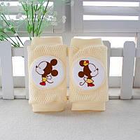 Наколенники для малышей сетчатые Микки Маус Желтые  Оптом