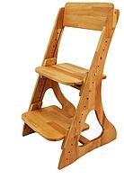 Детский растущий стул из натурального дерева С-500