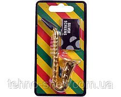 Трубка для курения (металл) Саксофон