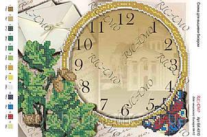 Схема для вышивки бисером часов