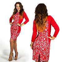 Платье 15596 (Красный)