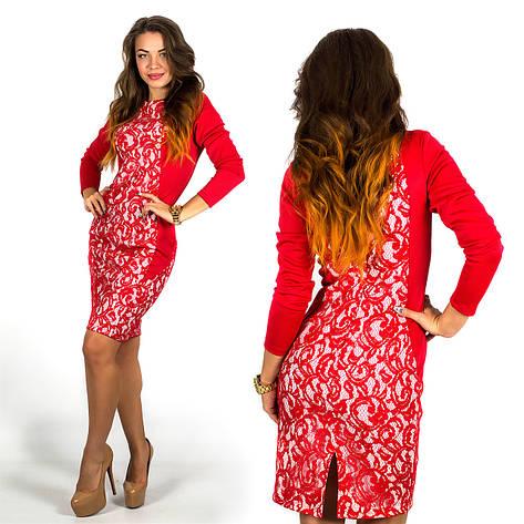 Платье 15596 (Красный), фото 2