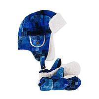Зимняя шапка в комплекте с варежками для мальчика Миллер, размер 50 см