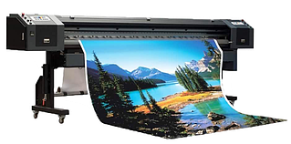 Широкоформатная печать на ламинированном баннере  плотностью 440 гр/м.кв