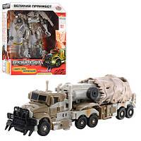 Трансформер H 604/8110 Праймбот, робот(17см) - трейлер (военный), в кор-ке, 27-22-10см