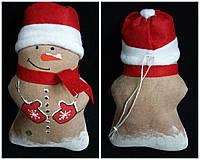 Снеговичок шитый (ручная работа), в-19 см, 50\40 (цена за 1 шт. +10 грн.)