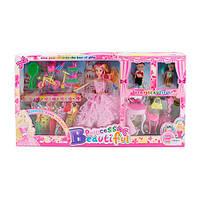 Кукла  с нарядами 668 D-1 ,двое детей,акссесуары
