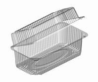 Пищевой пластиковый одноразовый контейнер для еды (Ланч-бокс прозрачный) 35-1 (1600 мл) 227*127*70 (400 шт.)