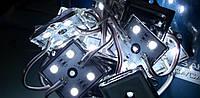 Светодиодный модуль для подсветки лайтбокса  5050 (4)  IP 65 холодный белый