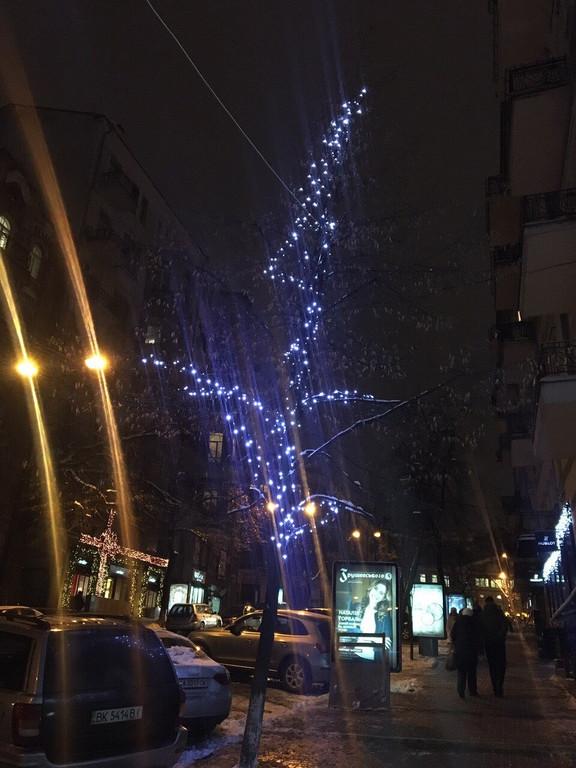 Использовалась светодиодная гирлянда 20 метров.