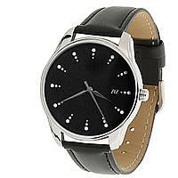 """Часы ZIZ маст-хэв """"Белый сахар"""" (черный, серебро). арт. ZIZ-1416601"""