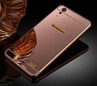 Чехол для Lenovo A6000 / A6010 / K3 зеркальный розовый