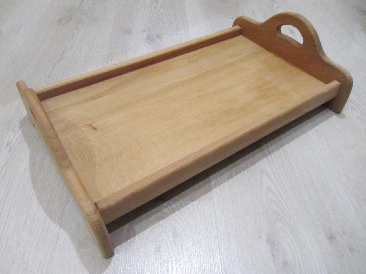 Поднос деревянный из бука 27х45см.