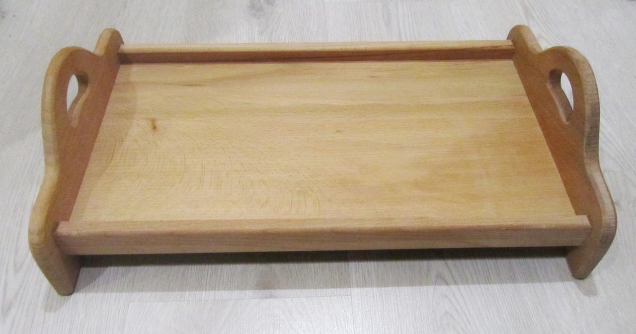 Деревянный поднос с ручками 20х35см., фото 1
