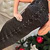 Платье с люрексом шнуровка 366, фото 4