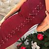 Платье с люрексом шнуровка 366, фото 5
