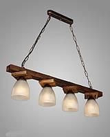 Люстра деревянная на 4 плафона подвесная AR-003417
