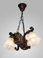 Люстра деревянная на цепи 2 лампы AR-003072