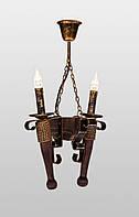 Люстра деревянная подвесная AR-002854