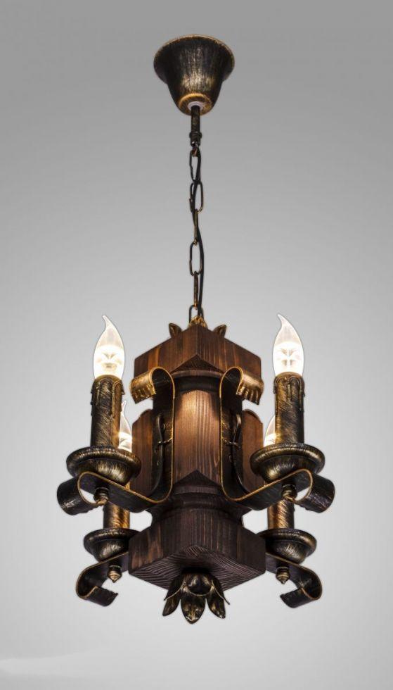 Люстра деревянная подвесная AR-002872