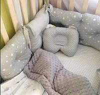 Бортики подушки  в кроватку для мальчика