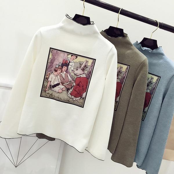 Женский свитер рисунок печать
