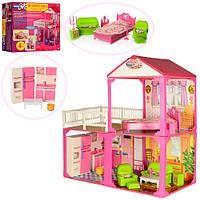 Домик 6982B  2 этажа, 81-82-40,5 см, 3 комнаты, мебель, для куклы 29 см, в коробке, 60-42-18см