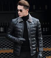 Мужская кожаная куртка Модель 1043, фото 1