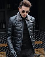 Мужская кожаная куртка Модель 1043, фото 3