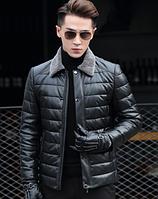Мужская кожаная куртка Модель 1043, фото 4