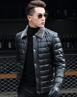 Мужская кожаная куртка Модель 1043, фото 5